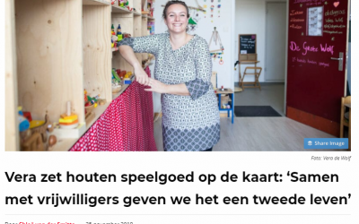 Vera zet houten speelgoed op de kaart: 'Samen met vrijwilligers geven we het een tweede leven'